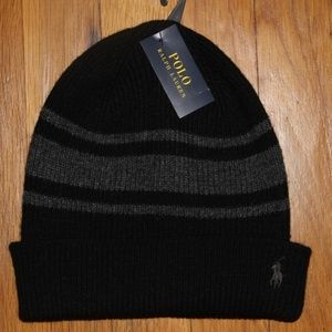 Polo by Ralph Lauren Accessories - Polo Ralph Lauren Striped Beanie Hat Cashmere Wool